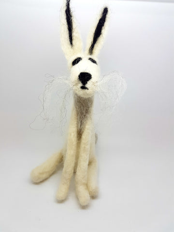 winter hare needle felt kit