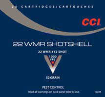 CCI 22WMR #12 SHOT SHOTSHELL