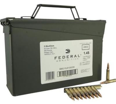 FEDERAL 5.56 55GR CLIPPED AMMO CAN
