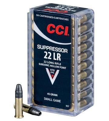 CCI 22LR 45GR HP SUPPRESS