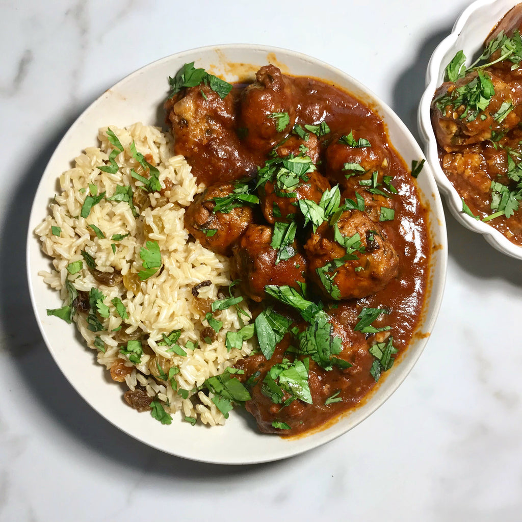 North African Meatballs with Bone Broth