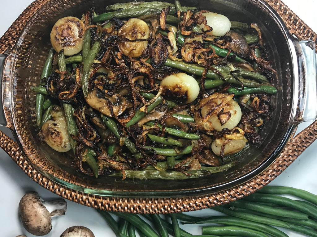 Sautéed Green Bean, Mushroom and Cipollini Onion Casserole
