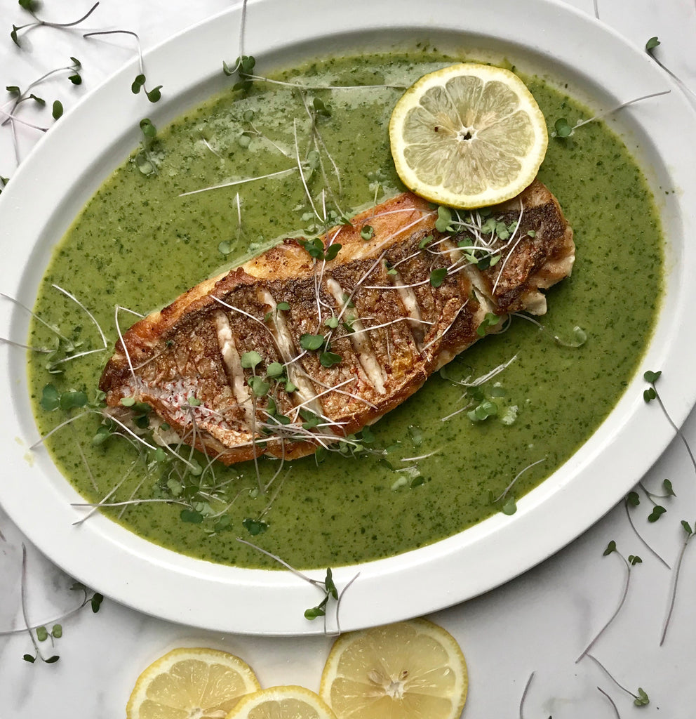 Red Snapper in Cilantro Broth