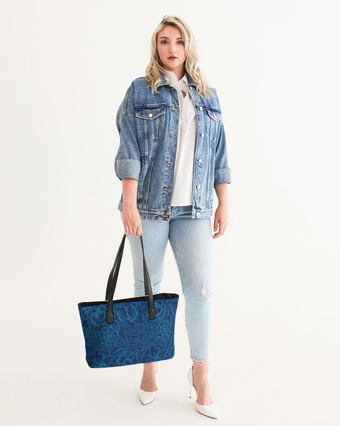 Blue Floral Stylish Tote