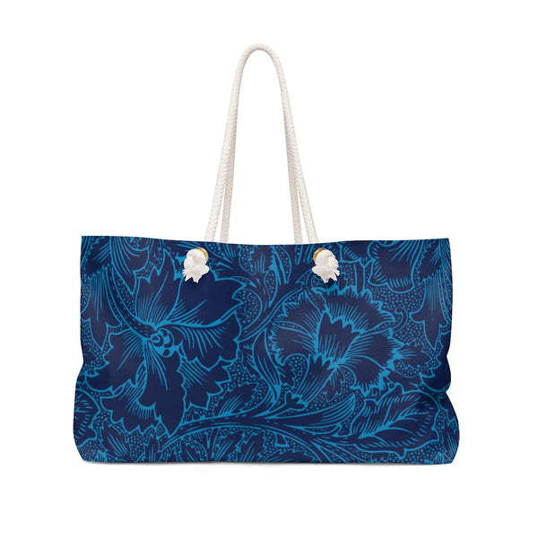 Blue & Red Floral Weekender Bag