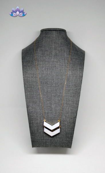 Abalone Chevron Necklace