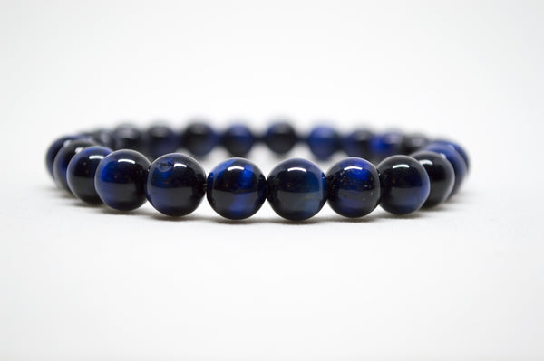 Blue Tiger's Eye Infinity Bracelet - 8mm