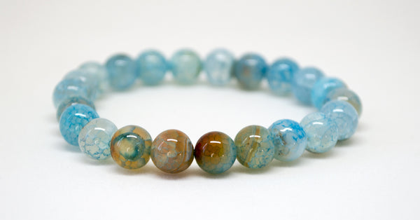 Blue Quartzite Infinity Bracelet - 8mm