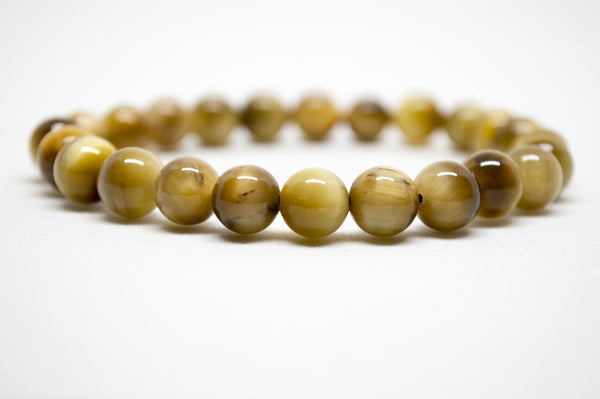 Golden Yellow Tiger's Eye Infinity Bracelet - 8mm