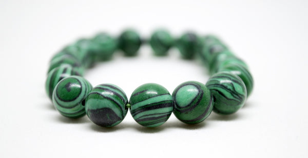 Malachite Infinity Bracelet - 10mm