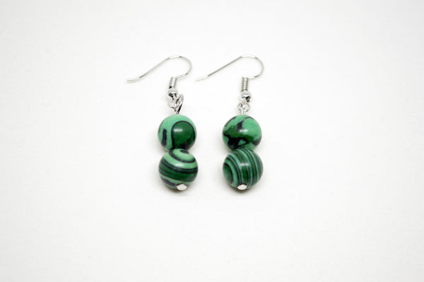 Malachite Earrings - 10mm