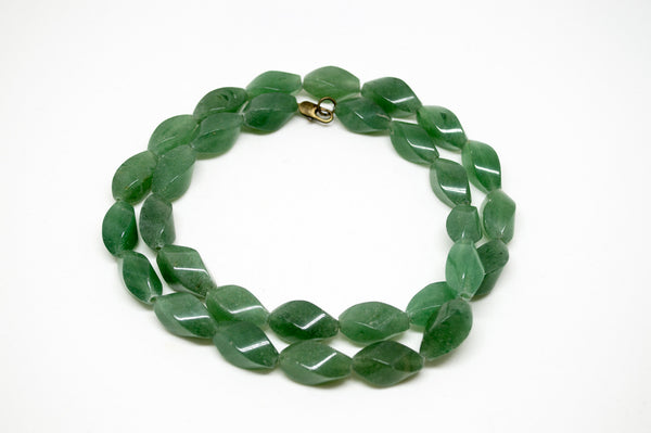 Twisted Green Jade Necklace
