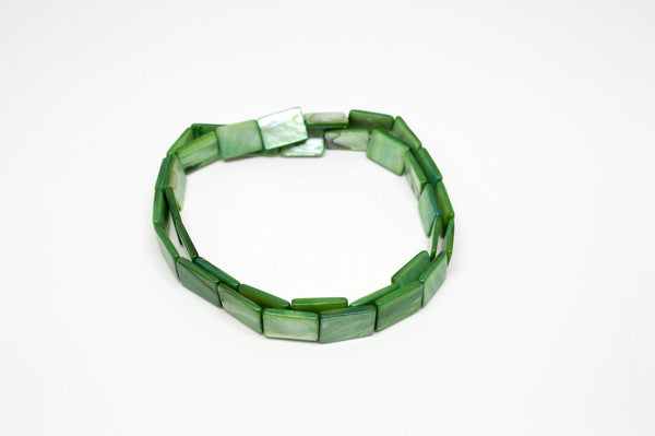 Green Shell Infinity Stretch Necklace