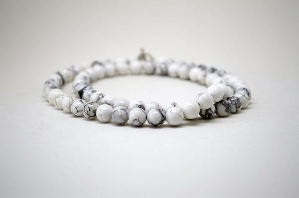 Howlite Necklace - 8mm