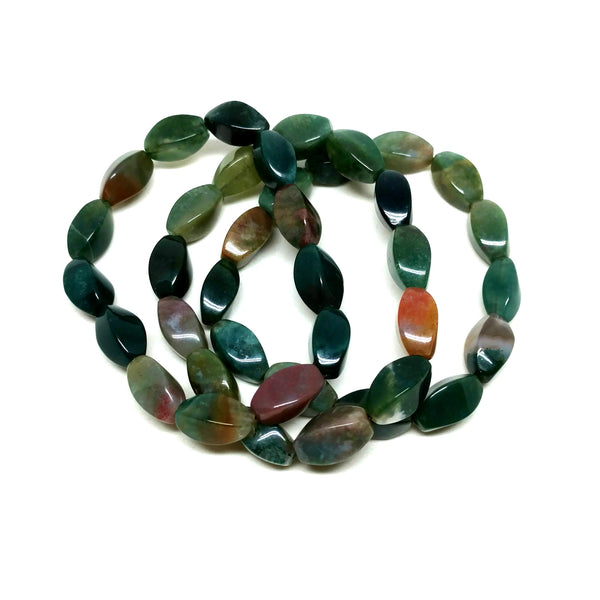 Twisted Indian Agate Infinity Bracelet