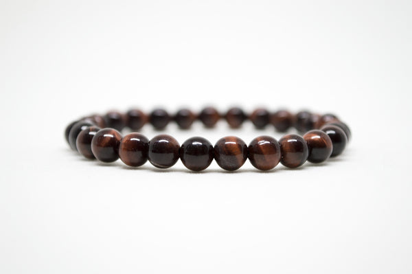 Red Tiger's Eye Infinity Bracelet - 8mm