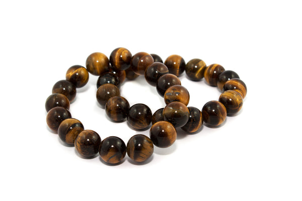 Multicolored Tiger's Eye Infinity Bracelet - 10mm