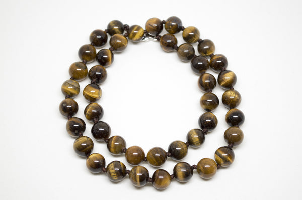 Gold Tiger's Eye Necklace - 12mm