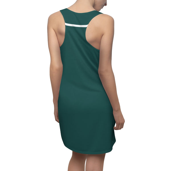 Geometric Green Color-blocked Sundress