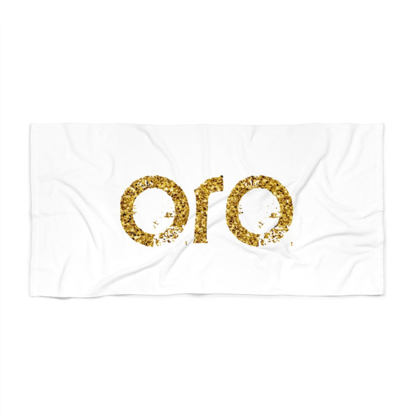 "oro white ""gold"" Beach Towel"