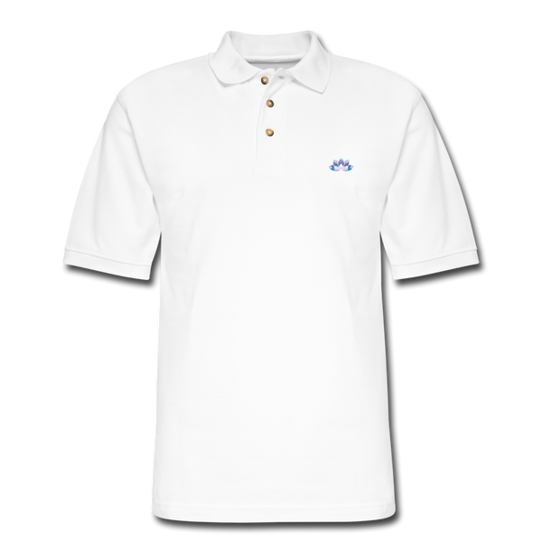 Men's Lotus Pique Polo Shirt - white