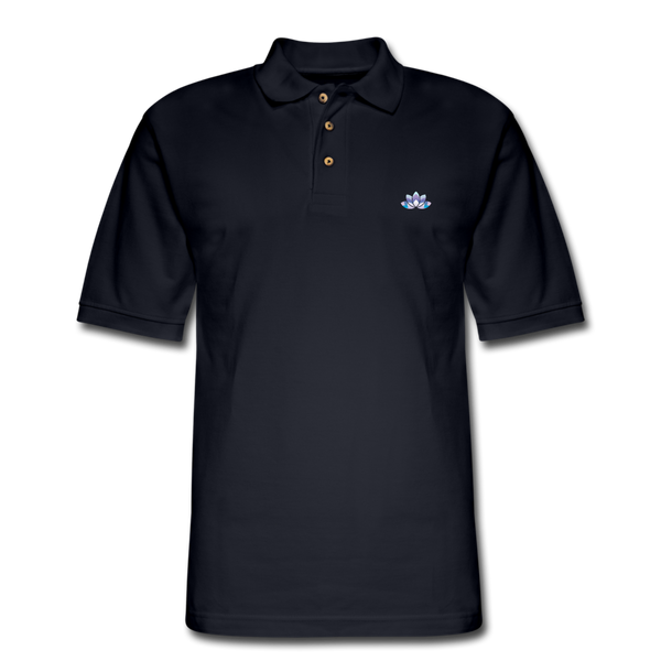 Men's Lotus Pique Polo Shirt - midnight navy