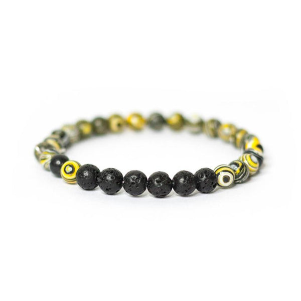 Essential Oil Diffusing Bracelet - Cosmic Yellow