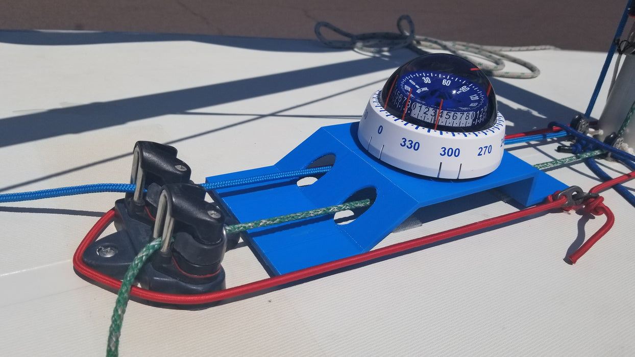 Compass Mount for Laser Sailboat - Analog Compass