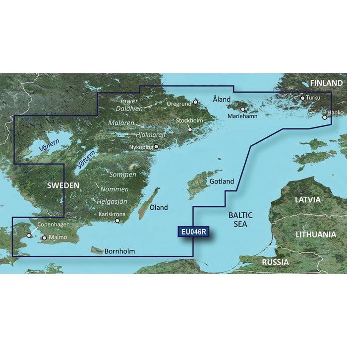 Garmin Garmin BlueChart g2 Vision HD - VEU046R - regrund, land to Malm - microSD-SD [010-C0782-00] Garmin BlueChart g2 Vision Foreign Desert Wind Sailboats