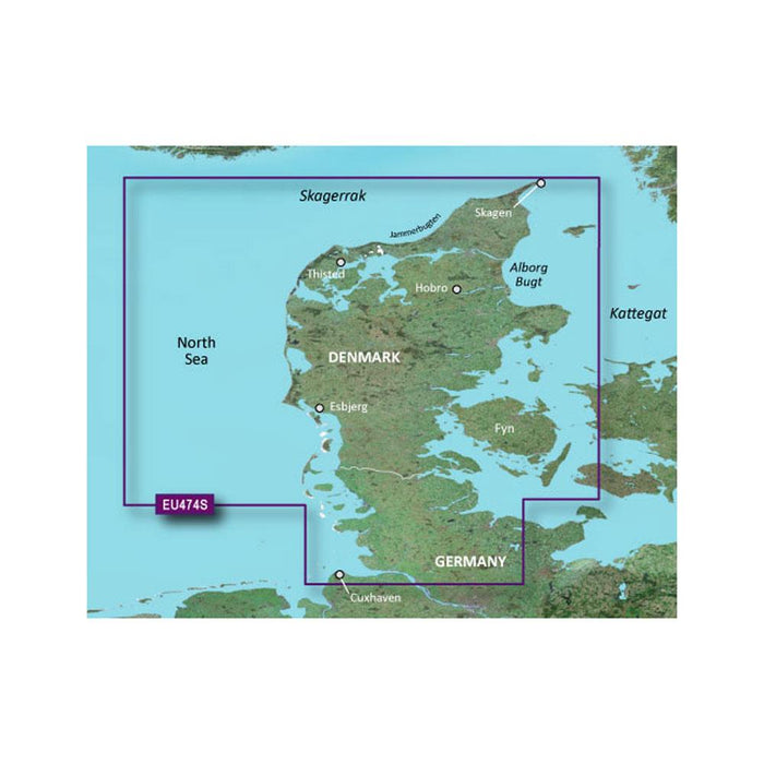 Garmin Garmin BlueChart g2 Vision HD - VEU474S - Alborg to the Eider - microSD-SD [010-C0818-00] Garmin BlueChart g2 Vision Foreign Desert Wind Sailboats