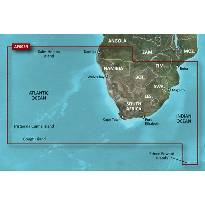 Garmin Garmin Bluechart g2 Vision HD - VAF002R - South Africa - microSD-SD [010-C0748-00] Garmin BlueChart g2 Vision Foreign Desert Wind Sailboats