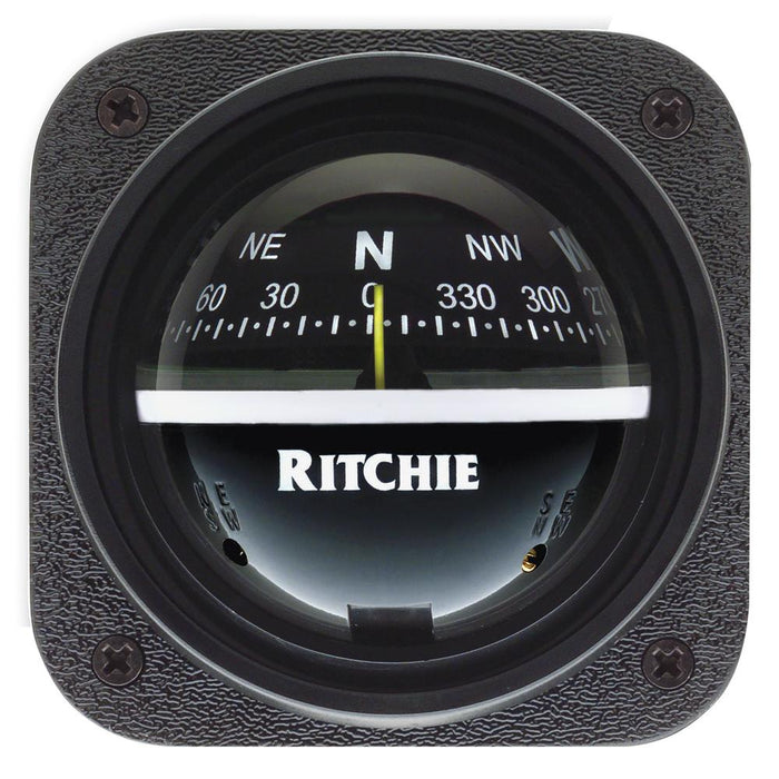 Ritchie V-537 Explorer Compass - Bulkhead Mount - Black Dial [V-537]
