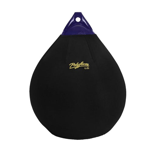 Polyform U.S. Polyform Fender Cover f-A-4 Ball Style - Black [EFC-A4] Docking Accessories Desert Wind Sailboats