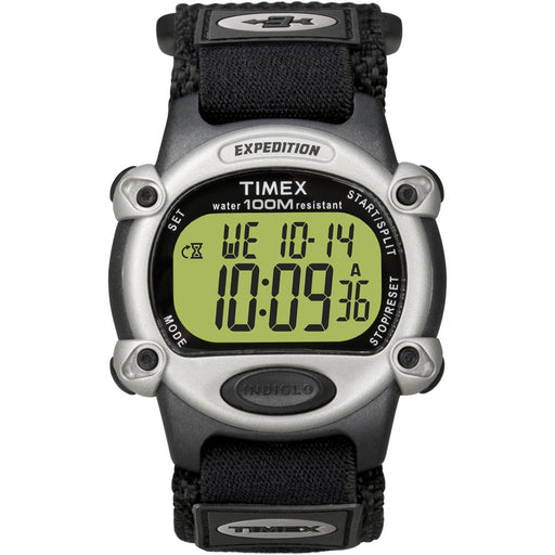 Timex Timex Expedition Mens Chrono Alarm Timer Silver-Black [T48061] Watches Desert Wind Sailboats