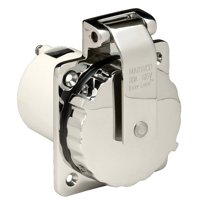Marinco Marinco 303SSEL-B 30A Power Inlet - Stainless Steel - 125V [303SSEL-B] Shore Power Desert Wind Sailboats