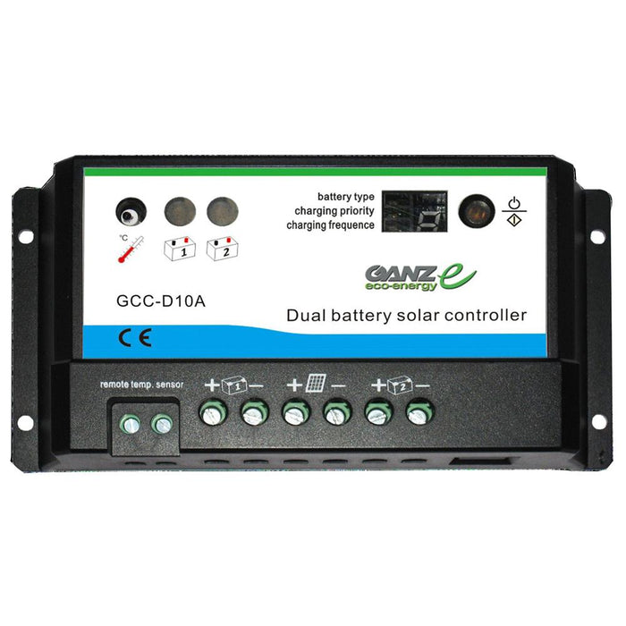 Ganz Eco-Energy Ganz Eco-Energy Dual Charge Controller - 12-24V [GCC-D10A] Solar Panels Desert Wind Sailboats