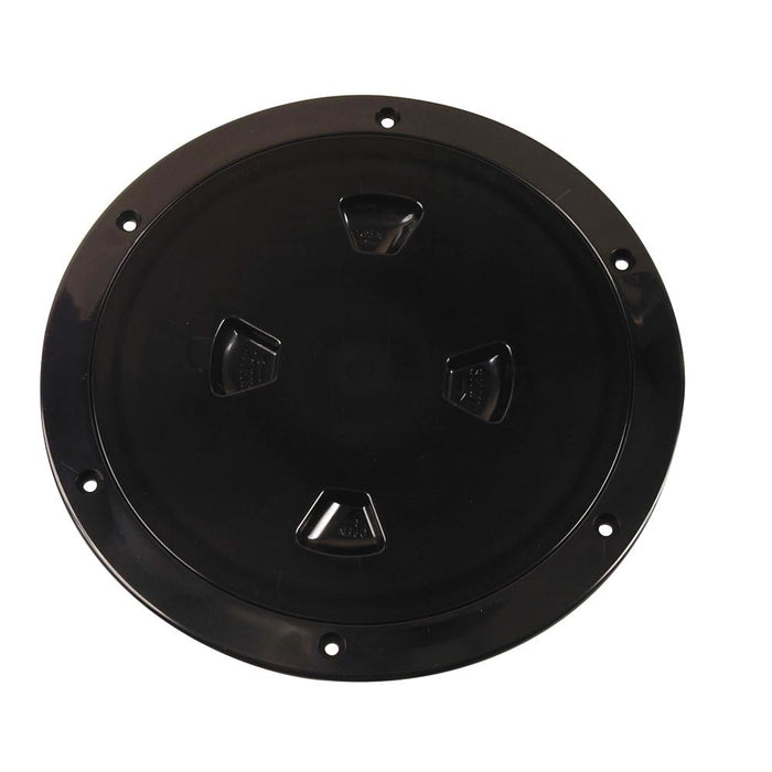 "Beckson Marine Beckson 8"" Smooth Center Screw-Out Deck Plate - Black [DP80-B] Deck Plates Desert Wind Sailboats"