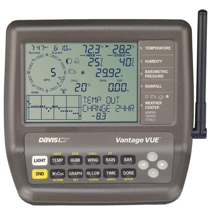Davis Instruments Davis Vantage Vue 2nd Station Console-Receiver [6351] Weather Instruments Desert Wind Sailboats