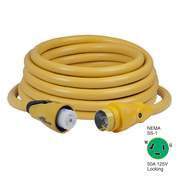 Marinco Marinco CS503-50 EEL 50A 125V Shore Power Cordset - 50' - Yellow [CS503-50] Shore Power Desert Wind Sailboats