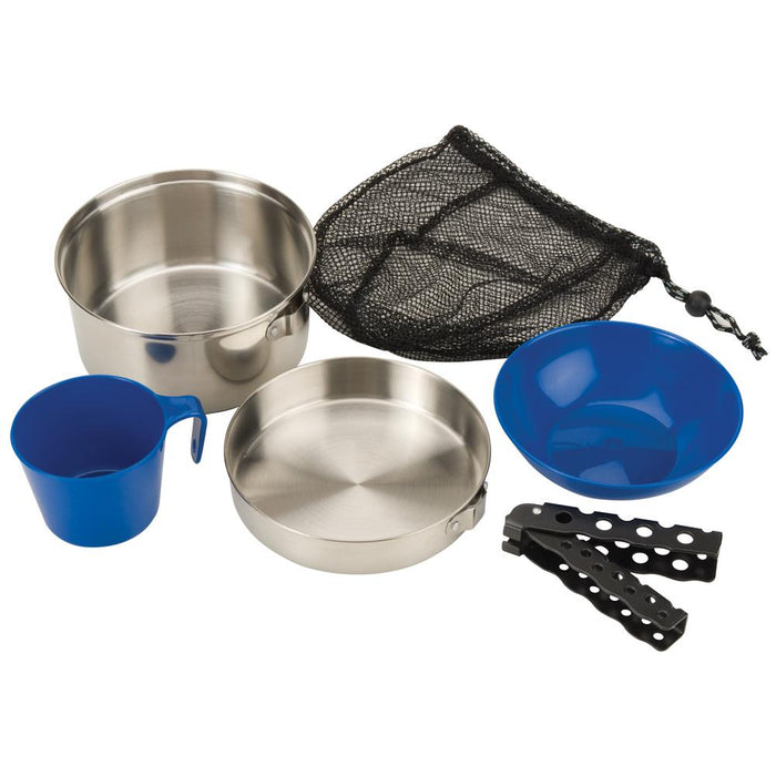 Coleman Coleman 1 Person Mess Kit - Stainless Steel [2000015180] Accessories Desert Wind Sailboats