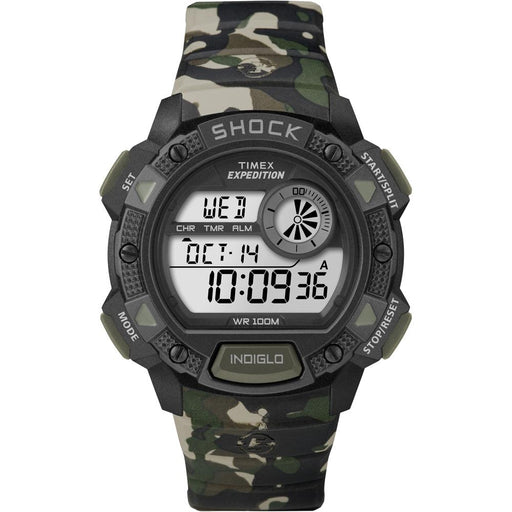 Timex Timex Expedition Base Shock Chrono Alarm Timer Watch - Camo [T49976] Fitness / Athletic Training Desert Wind Sailboats