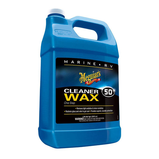 Meguiar's Meguiar's #50 Boat-RV Cleaner Wax - Liquid 1 Gallon [M5001] Cleaning Desert Wind Sailboats