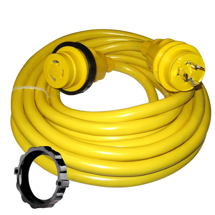 Marinco Marinco 30 Amp Power Cord Plus Cordset - 35' - Yellow [35SPP] Shore Power Desert Wind Sailboats