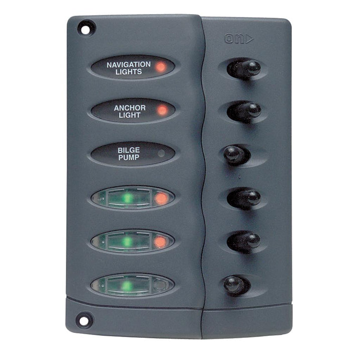 Marinco Marinco Contour Switch Panel - Waterproof 6 Way w-Fuse Holder [CSP6-F] Electrical Panels Desert Wind Sailboats
