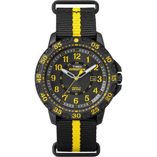 Timex Timex Expedition Gallatin Watch - Black Slip-Thru Strap-Yellow Accents [TW4B053009J] Watches Desert Wind Sailboats