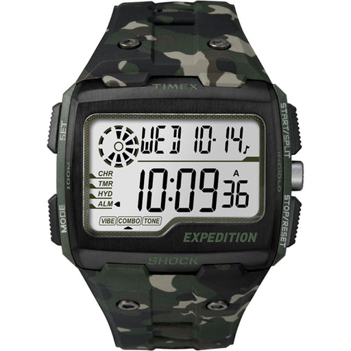 Timex Timex Expedition Grid Shock  - Camo Green [TW4B029009J] Fitness / Athletic Training Desert Wind Sailboats
