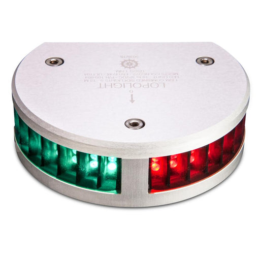 Lopolight Lopolight Combined SideLights - 1nm f-Vessels up to 39'(12M) - Half Circle Housing - Horizontal Mounting [100-004] Navigation Lights Desert Wind Sailboats