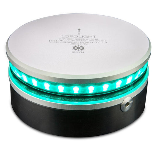 Lopolight Lopolight 360 Navigation Light - 2nm f-Vessels up to 164'(50M) - Green [200-015] Navigation Lights Desert Wind Sailboats