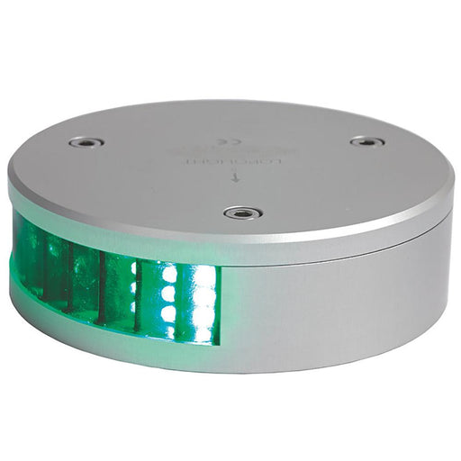 Lopolight Lopolight Green Starboard LED Navigation Light - 2nm - Round f-Vessels 39-164' [300-008] Navigation Lights Desert Wind Sailboats