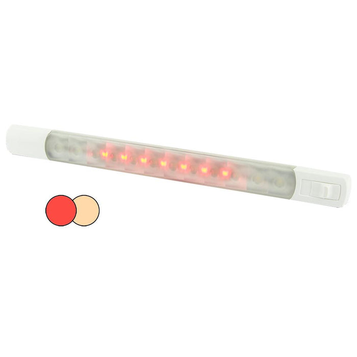 Hella Marine Hella Marine Surface Strip Light w-Switch - Warm White-Red LEDs - 12V [958121101] Inflatable Boats Desert Wind Sailboats